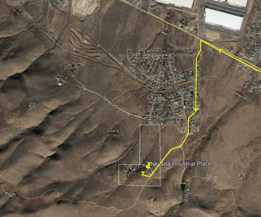 Directions to get to Nevada Industrial after you get off the Highway 395-N.
