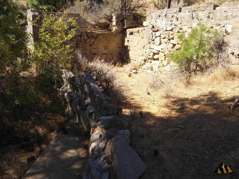 There is the foundation of an old mill site on this placer mining claim.