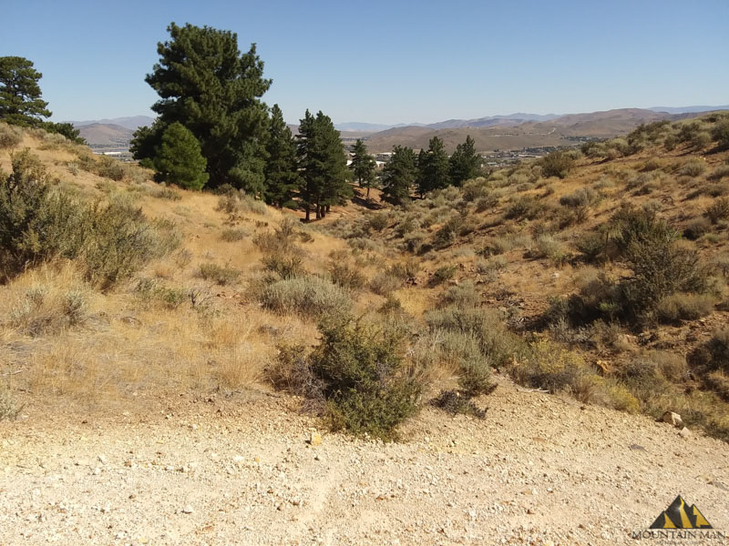 Looking north into the city of Reno from the peavine mining district.