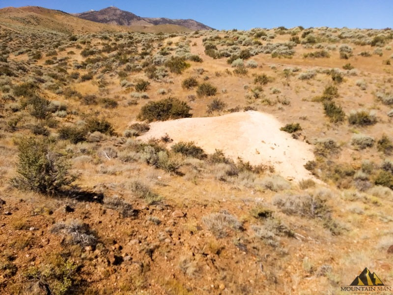 Large talc pile on the southern most portion of the claim can be seen here.
