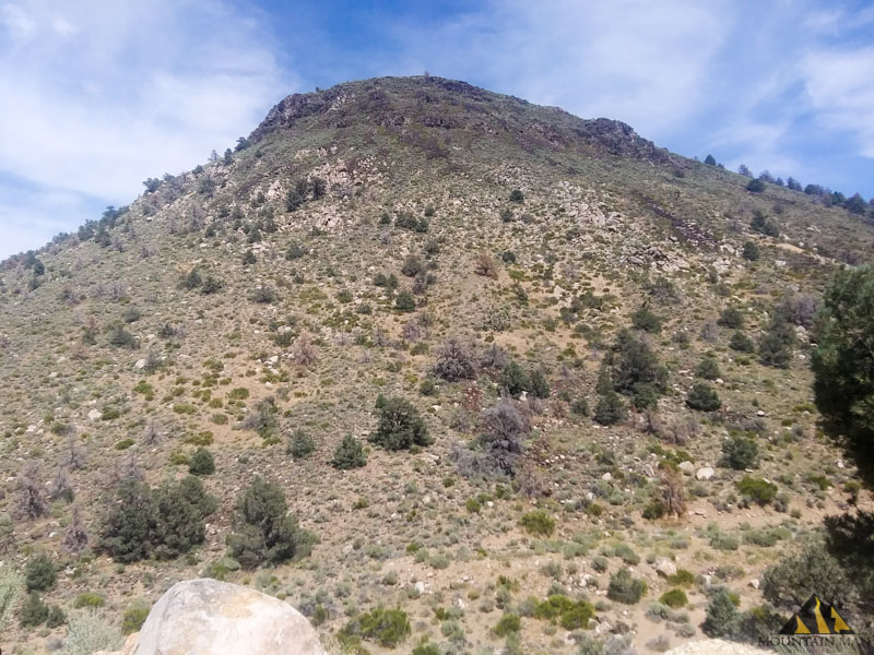 The hill across the road from the EW6 mine, 3 miles outside of Gold Point, NV.