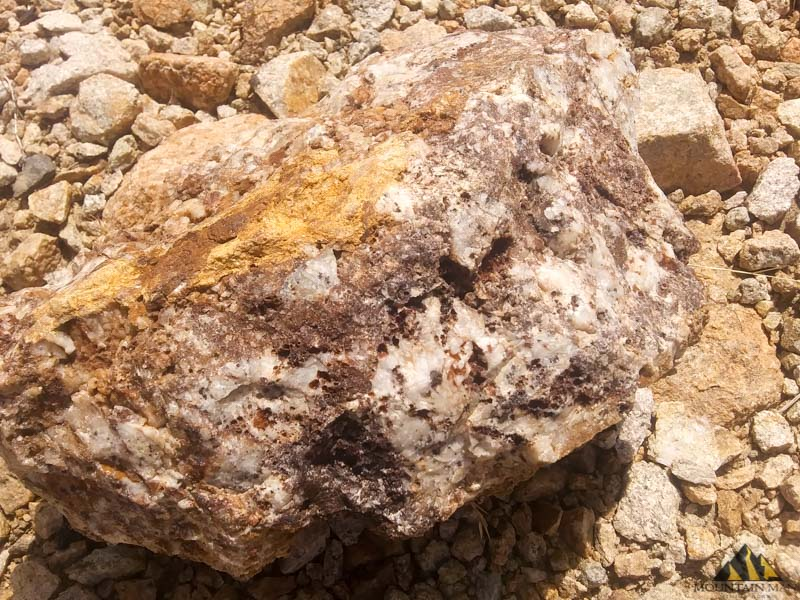 silver and gold ore at the ew6 mine