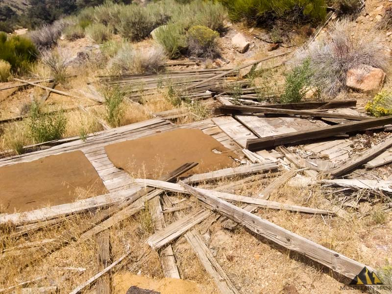Remains of an old cabin or mill site on the 20 acre lode claim, EW6.