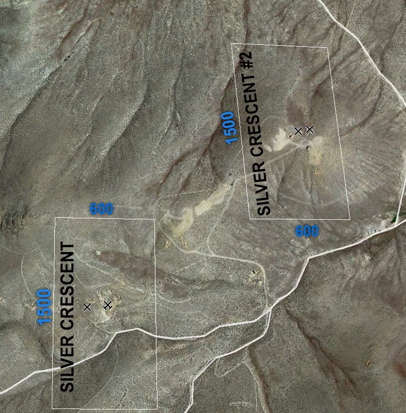 satellite view of silver crescent mine boundaries